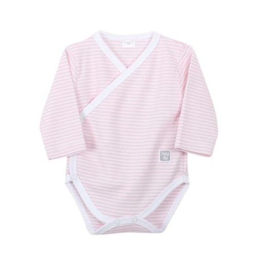 Newborn Pink Stripe Basic Body - Long Sleeves