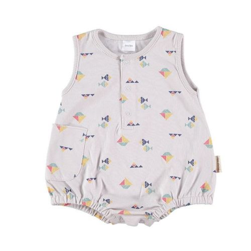 Sleeveless Baby Romper - Sandy Boats
