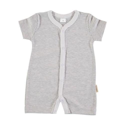 Baby Romper Pajama - Gray Stripes