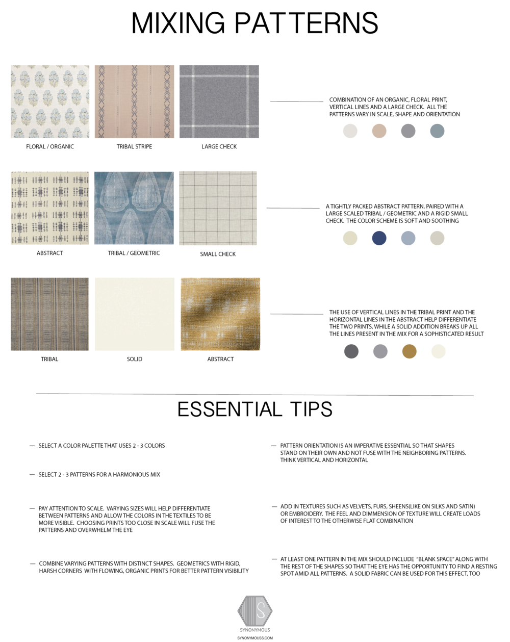 Design Study:  Guide To: How To Mix Patterns - SYNONYMOUS