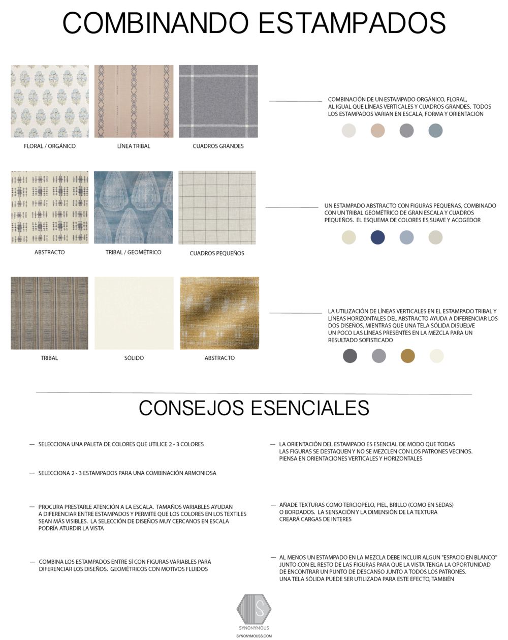 Design Study:  How To Mix Patterns - SYNONYMOUS