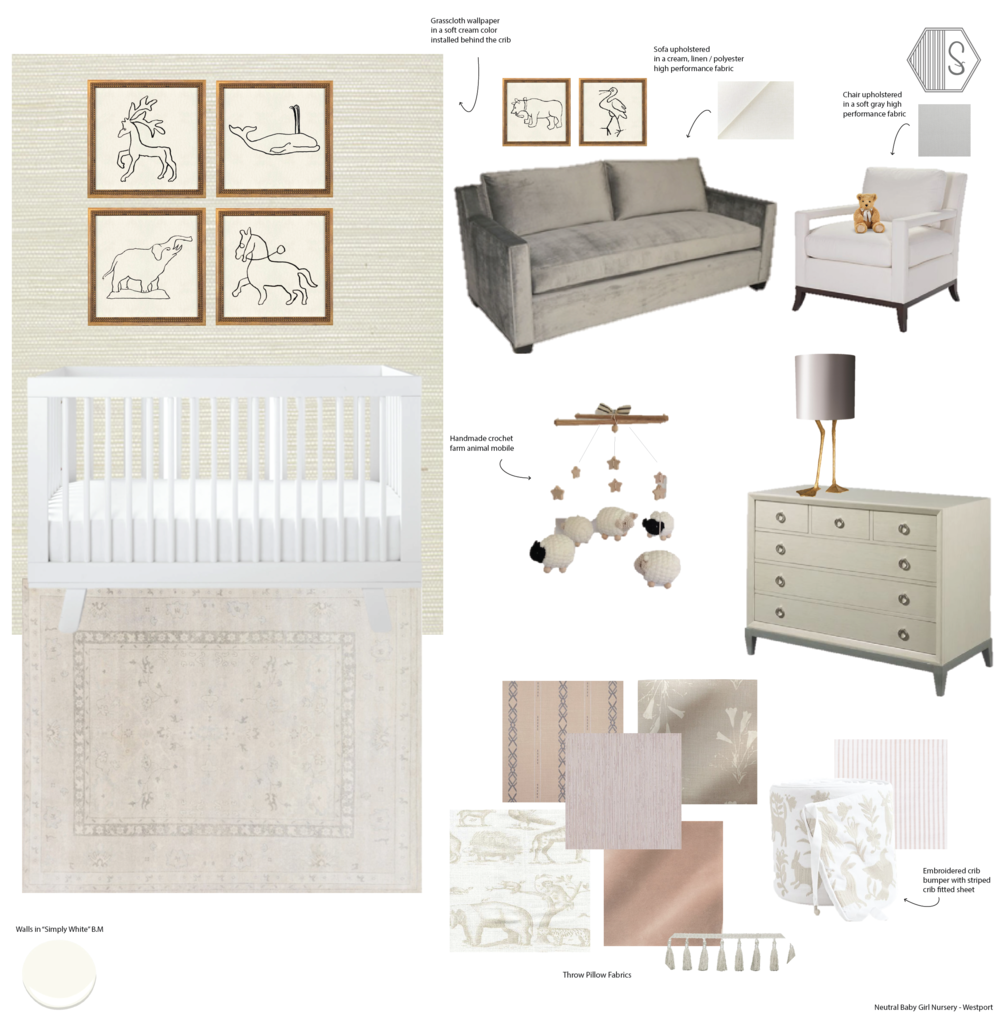 Synonymous - Sophisticated, Neutral Baby Girl Nursery