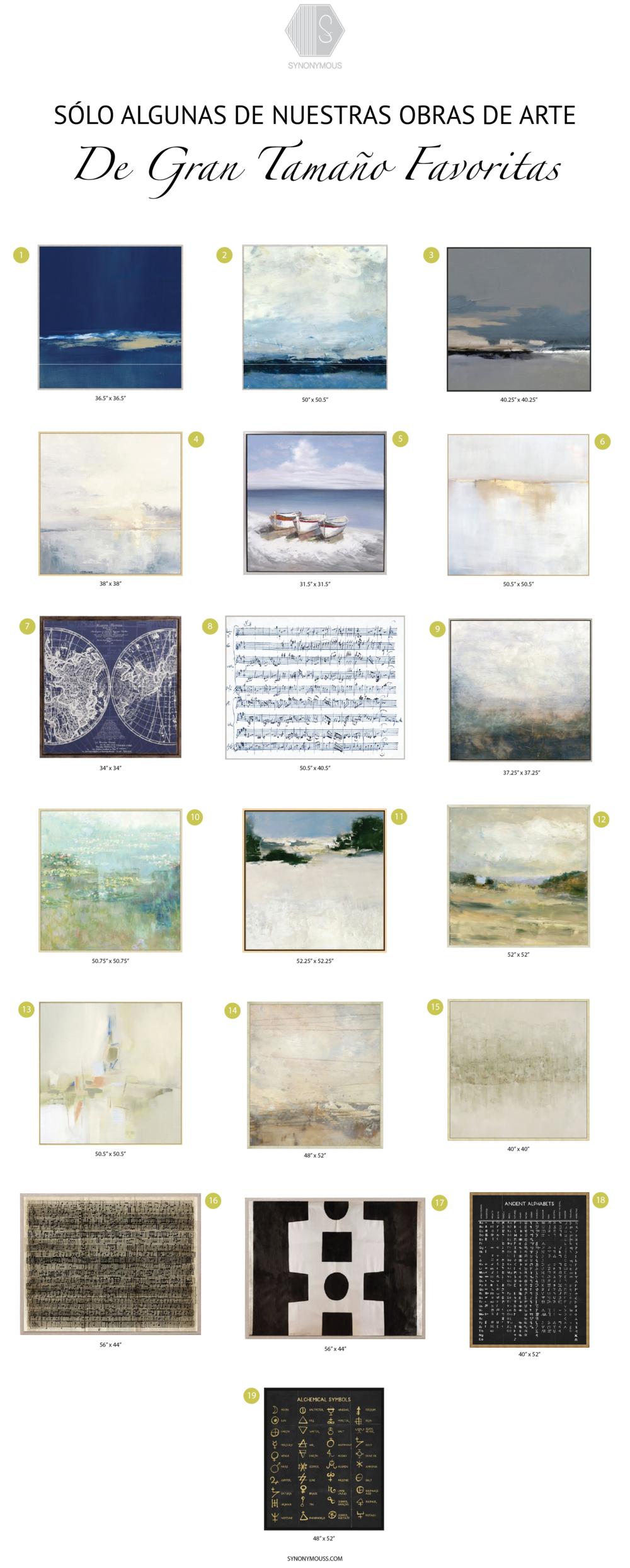 Nuestras Obras De Arte De Gran Tamaño Favoritas - Las Obras vistas están disponible a través de Synonymouss.com - SYNONYMOUS