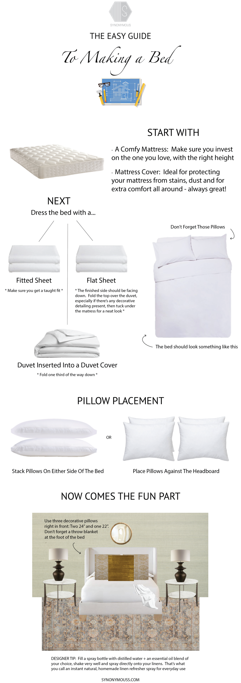 How To Make A Bed - The Easy Guide To Making A Bed - SYNONYMOUS