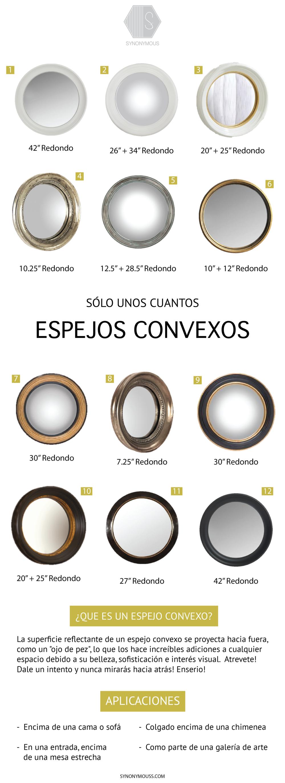 La Belleza De Los Espejos Convexos - Convex Mirror Round- Up - Round Mirrors - Los espejos pueden ser comprados a través de Synonymouss.com - SYNONYMOUS