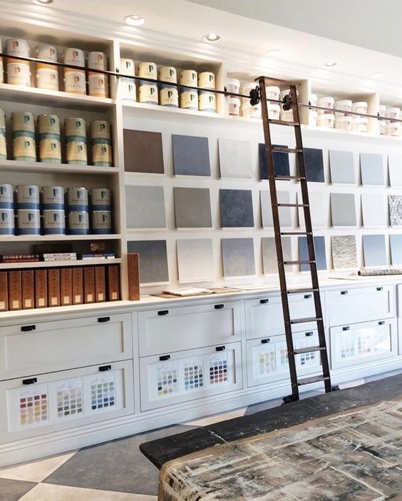 Photo from Mindy Gayer of the Portola Paints Showroom