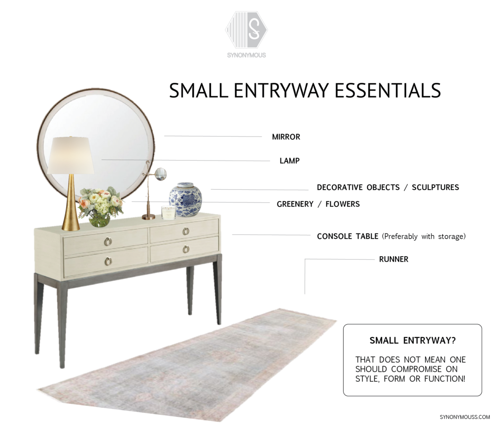 Synonymous | Interior Design Studio NYC — Entryway ideas | Small entryway | Entryway decor | Entryway essentials | Synonymouss.com