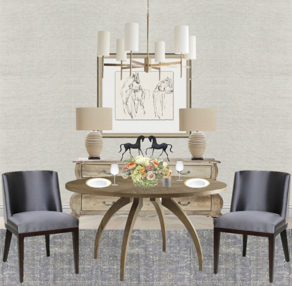 Classic Dining Room | Dining Room Makeover | Blue Dining Chairs | Modern Dining  Room |