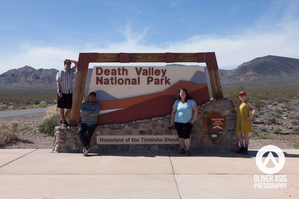 My friends, Randy, Hollie, Erin, and I at the eastern enterance into Death Valley National Park.