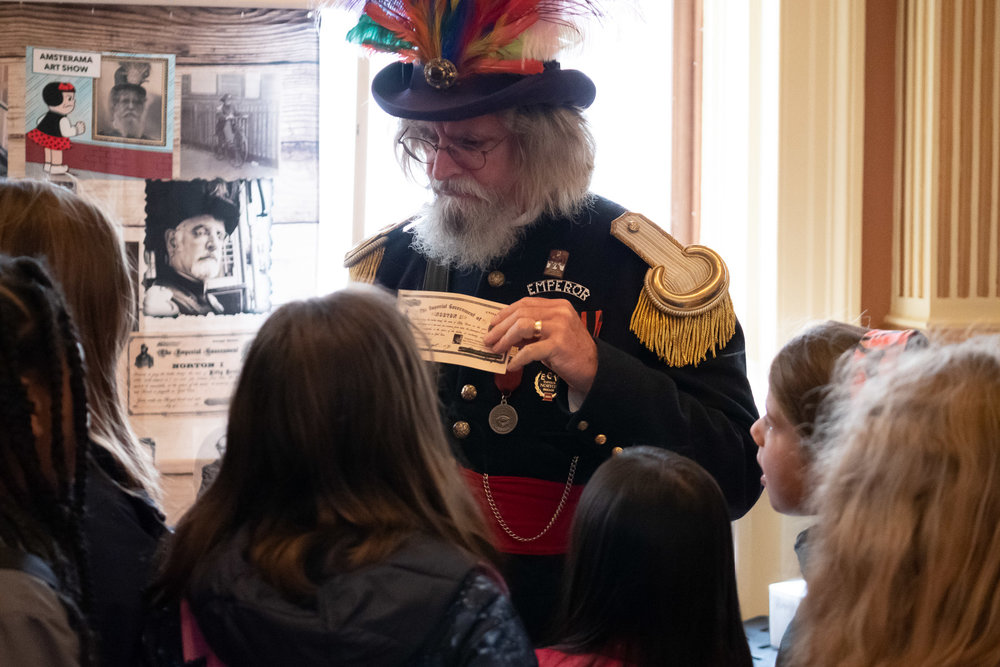 The Emperor Norton of Time Machine Tours graces us with his presence at SF History Days.