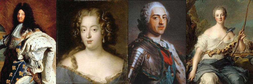 Kings and their women: Louis XIV, Louise de La Vallière, Louis XV & Madame de Pompadour