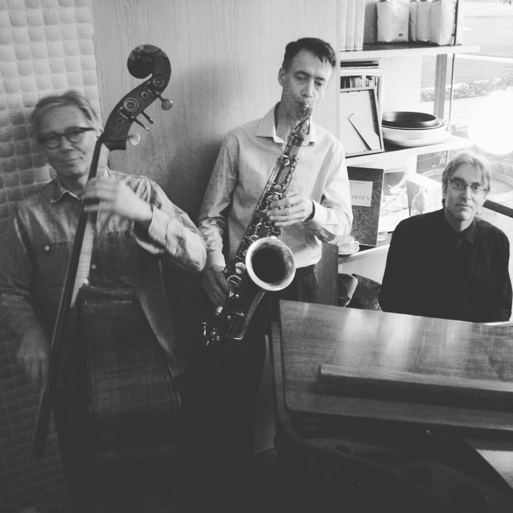 Eric Pozza (bass), Richard Manderson (saxophone), Mike Dooley (piano)
