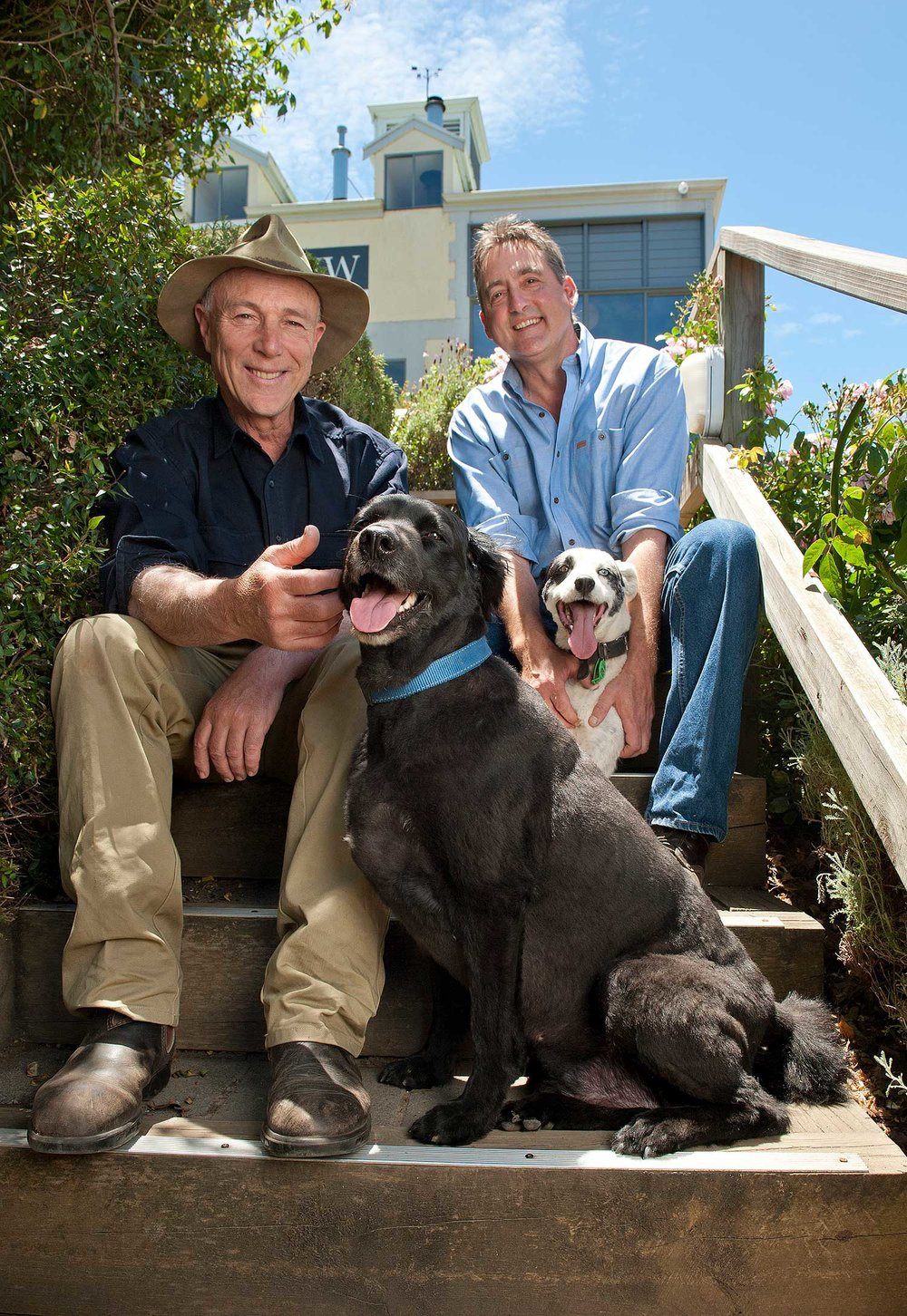 Hahndorf-Hill-Winery-co-owners,-Larry-Jacobs-(left)-and-Marc-Dobson-with-their-dogs.jpg