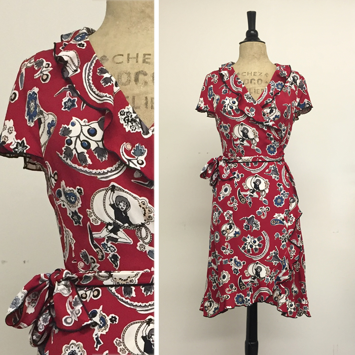 ruffle wrap dress in pin up cowgirl  short length  sm 1 . med 1 . xl 1.jpg