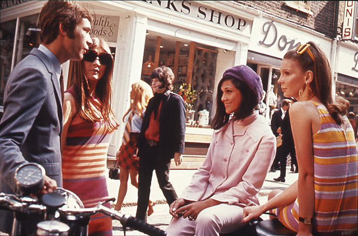 """Swinging London"" fashions on  Carnaby Street, c. 1966.  The National Archives (United Kingdom)  ."