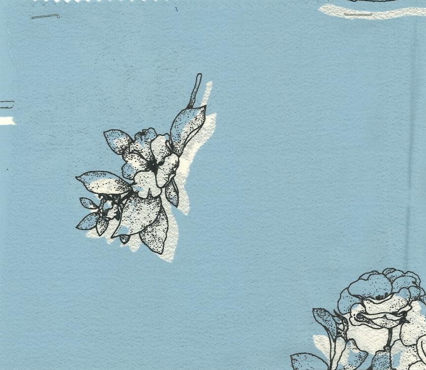 Powder Blue Floral-in stock