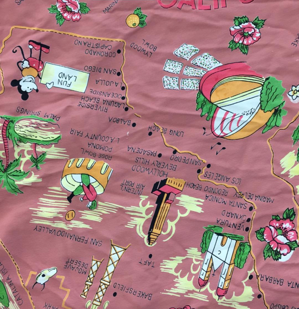 California Map Dusty Pink - in stock