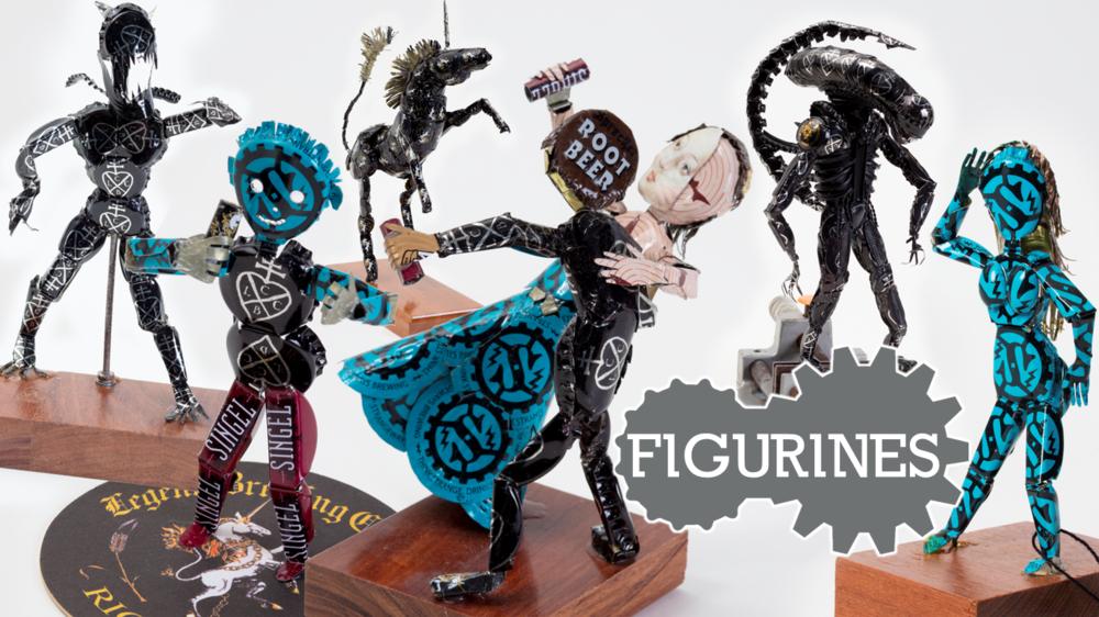Bottle cap figurines