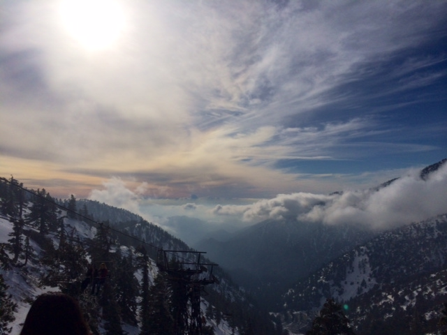View from the top of Mt. Baldy, the best wintery day trip from LA
