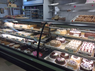 This is only half of the pastry selection