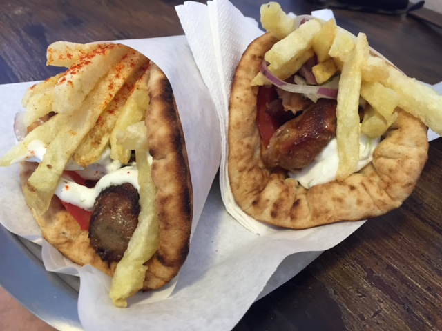 Gyros for  € 2 and fries on top!