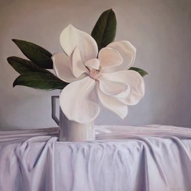 Magnolia Grandiflora Oil on Canvas, 84cm x 84cm