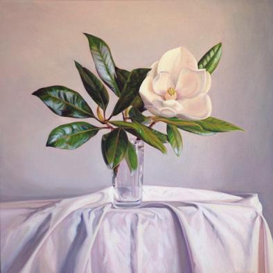 Magnolia Oil on Canvas, 61cm x 61cm
