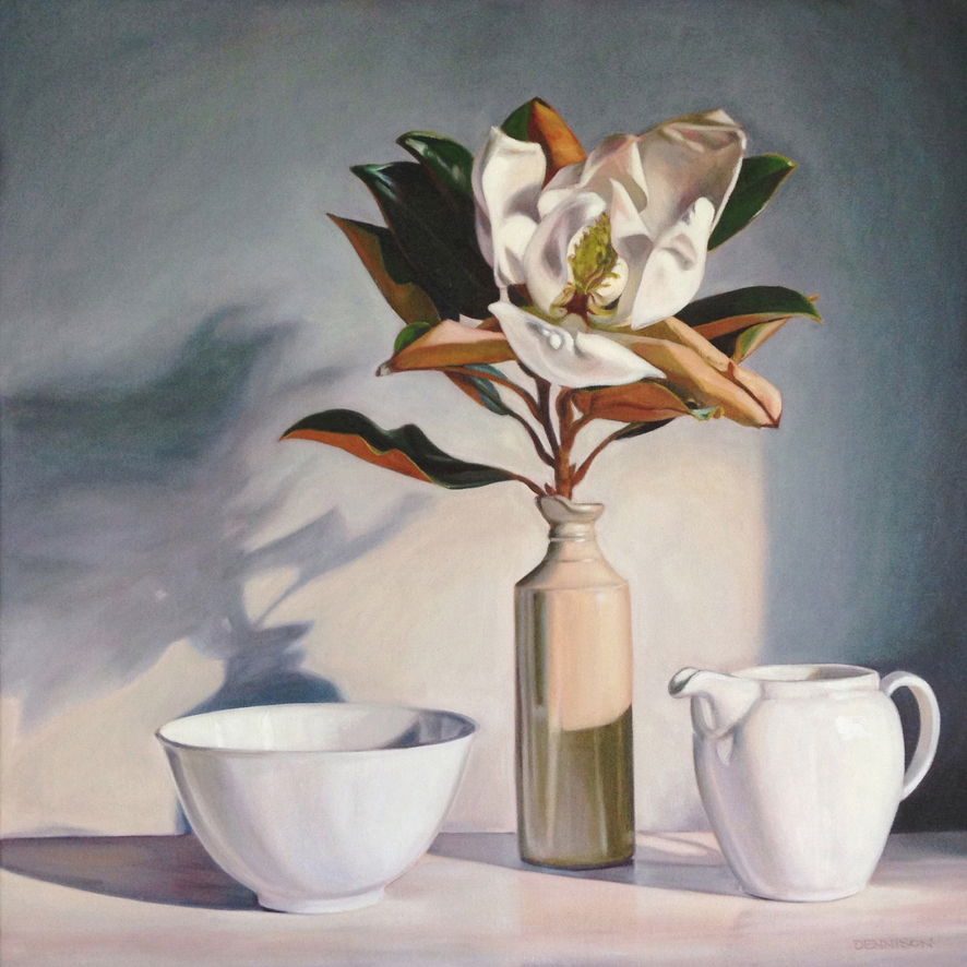 Magnolia 'Little Gem'    Oil on Canvas, 61cm x 61cm
