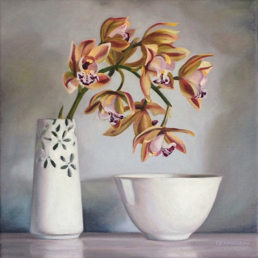 Cymbidium Orchid   Oil on Canvas, 35cm x 35cm