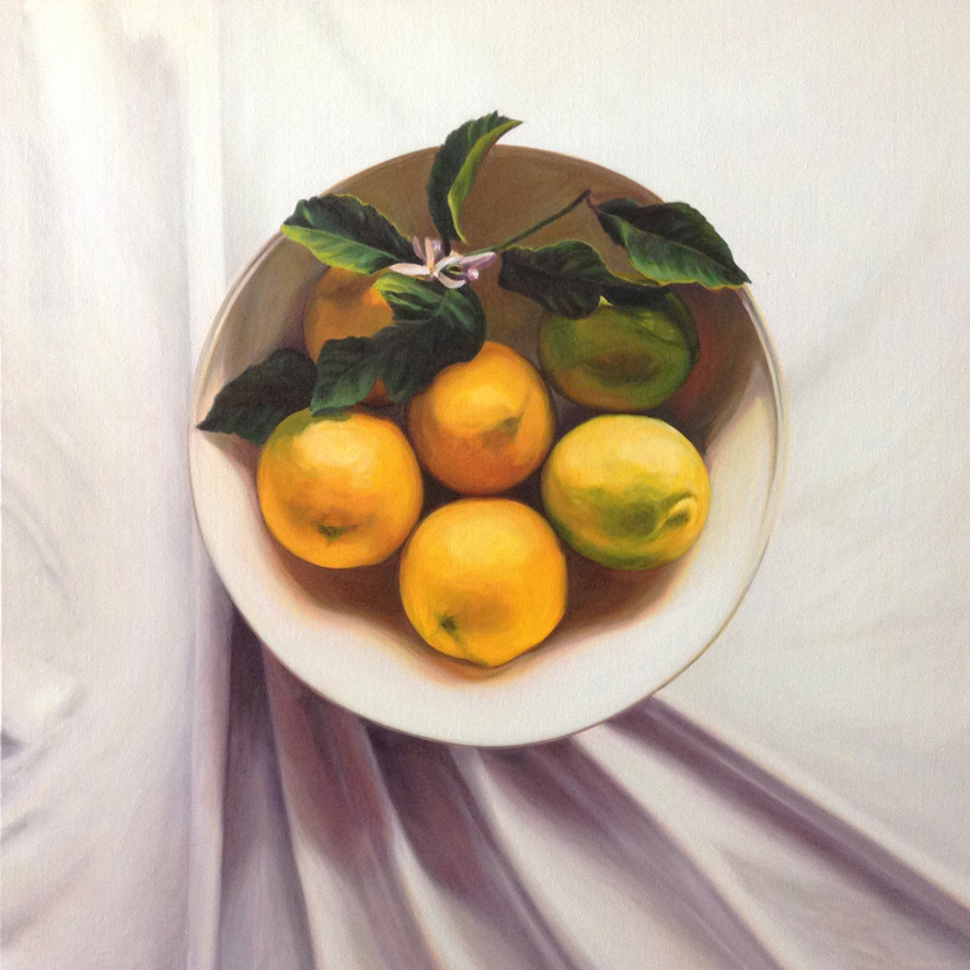 Autumn Lemons   Oil on Canvas, 84cm x 84cm