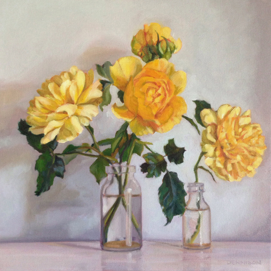 Yellow Roses   Oil on Canvas, 35cm x 35cm