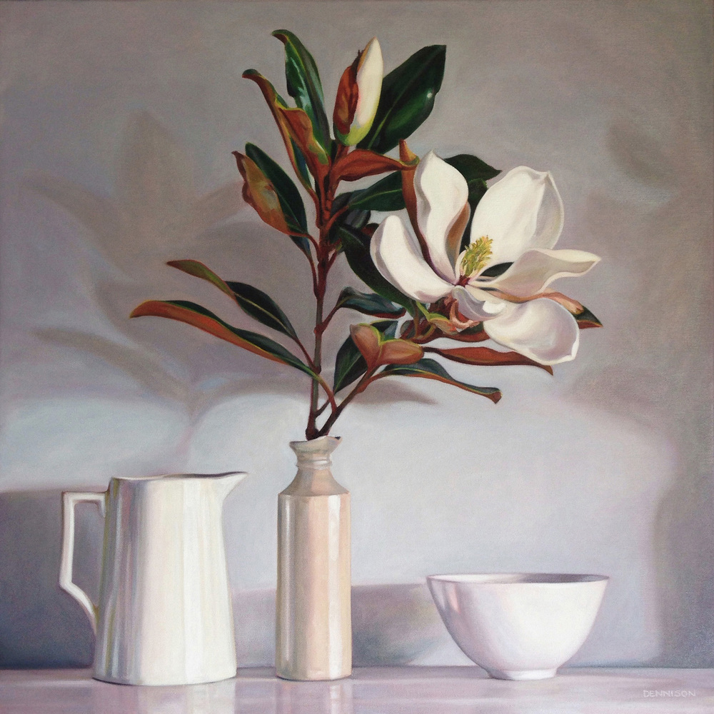 Magnolia Little Gem II   Oil on Canvas, 61cm x 61cm
