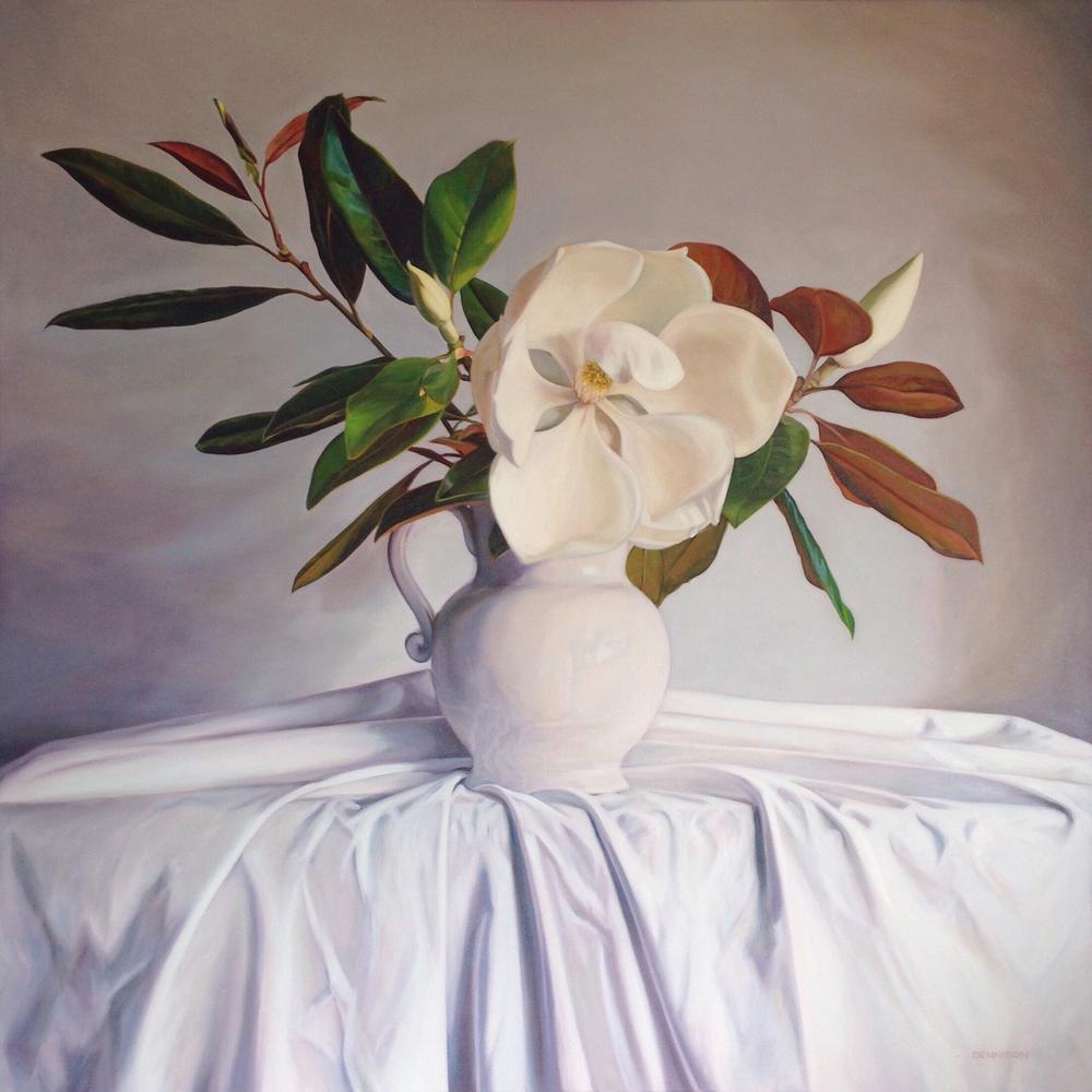 Grandiflora Oil on Canvas, 106cm x 106cm
