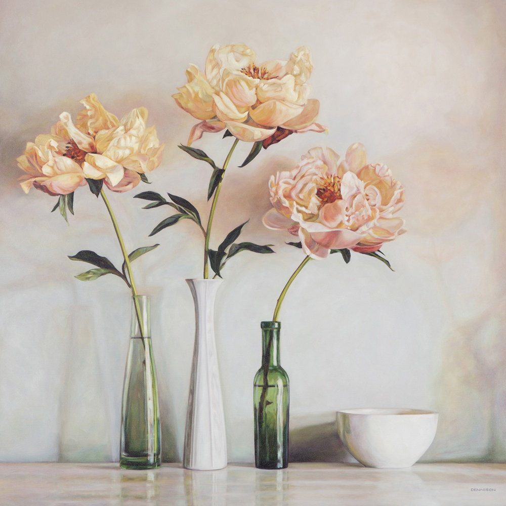 Peonies   Oil on Canvas, 100cm x 100cm