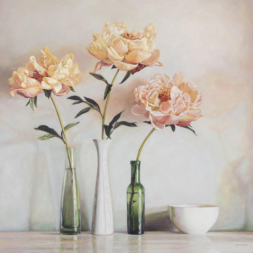 Peonies   Oil on Canvas, 100cm x 100cm