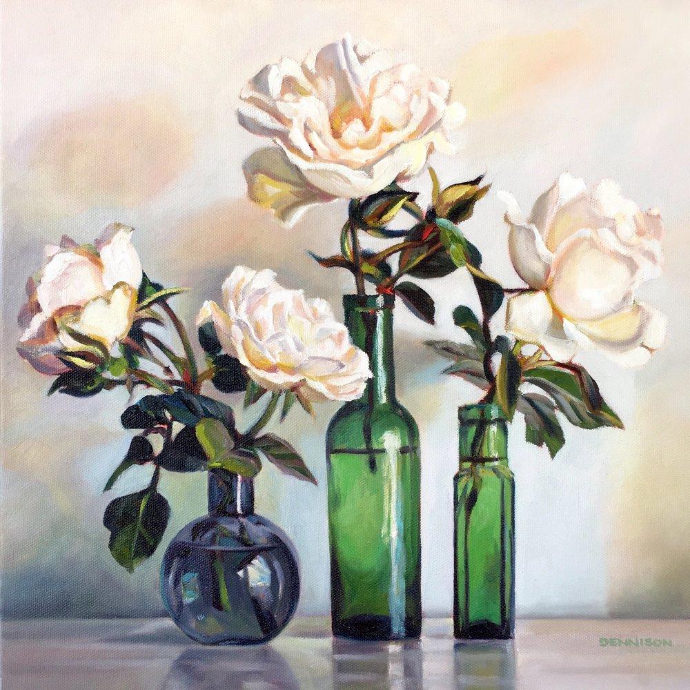 Green Still Life I   Oil on Canvas, 36cm x 36cm