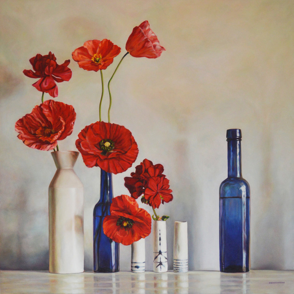 Wendy's Still Life   Oil on Canvas, 100cm x 100cm