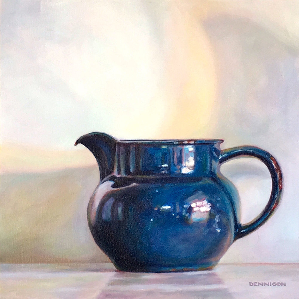 Blue Enamel Jug   Oil on Canvas, 35.5cm x 35.5cm