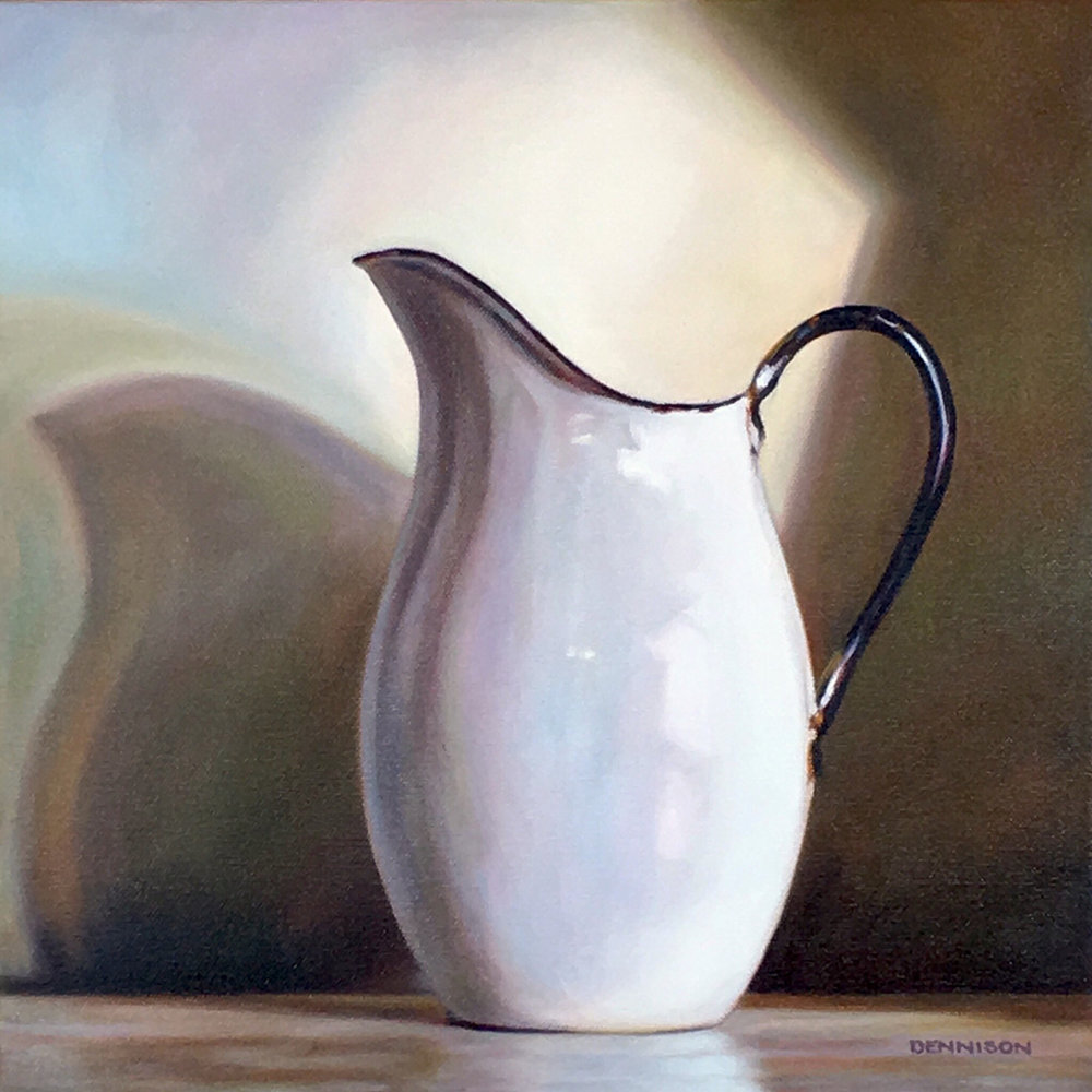 White Enamel Jug   Oil on Canvas, 35.5cm x 35.5cm