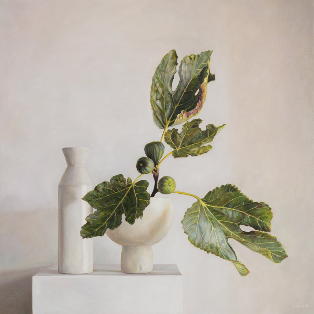 Still Life with Figs   Oil on Canvas, 85 x 85cm
