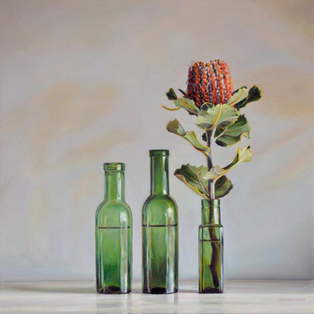 Banksia Coccinea   Oil on Canvas, 50 x 50cm