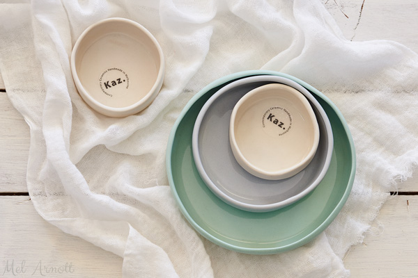 handmade ceramics from KAZ in Melbourne