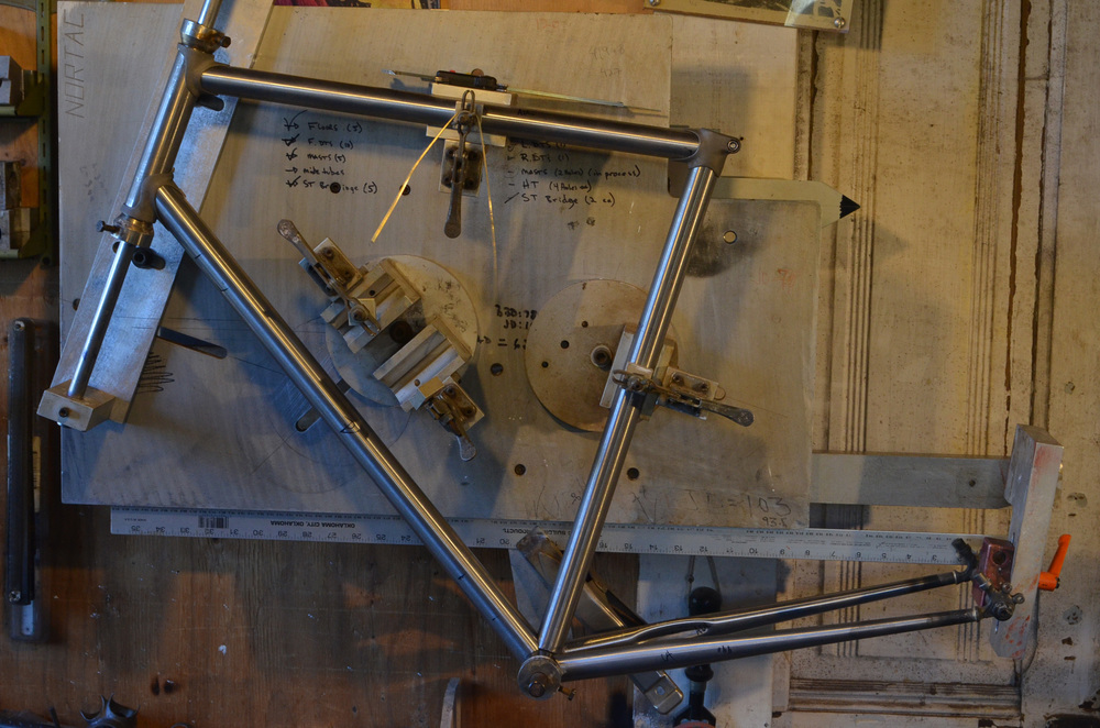 Lugged frame in the Nortac Jig