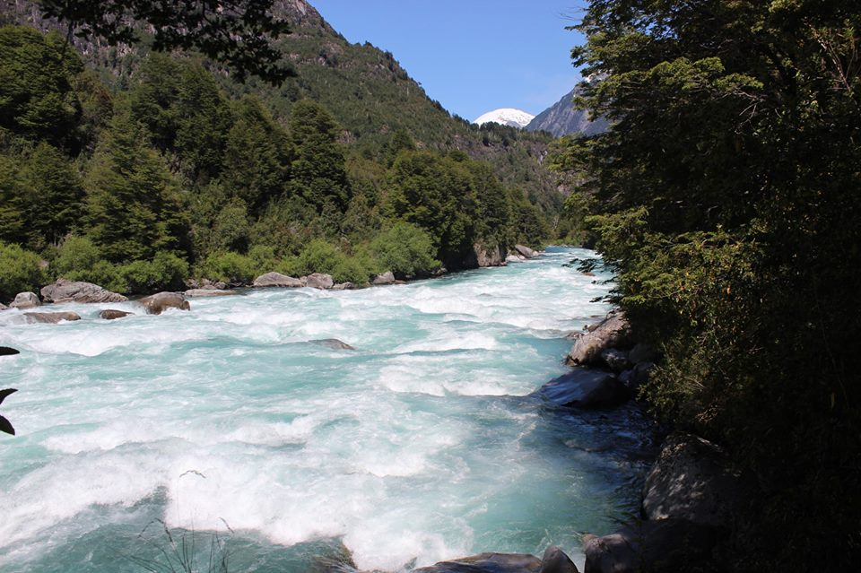Big Awesomely Beautifully Blue, Pristine and Freezing Cold plus having Gnarly Rapids Rio Futaleufu. Terminator Rapid
