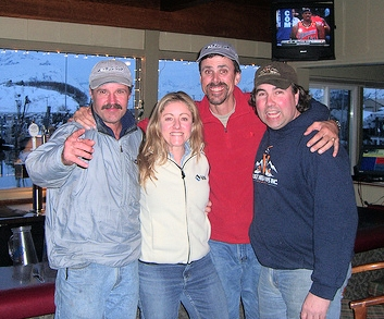Meeting Matt and Dave plus his team in the bar overlooking Valdez Harbour