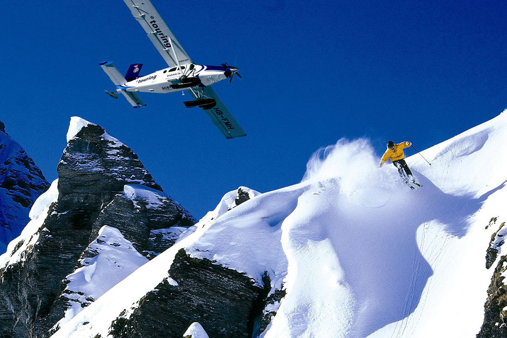 Heli ski the European Alps as a ski safari.