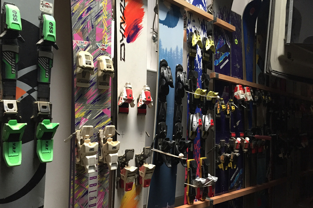 A portion of his mono board collection.