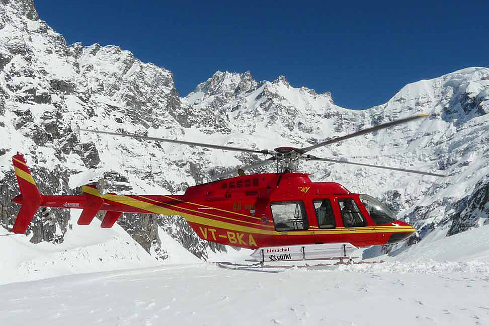 Come heli ski at Manali.