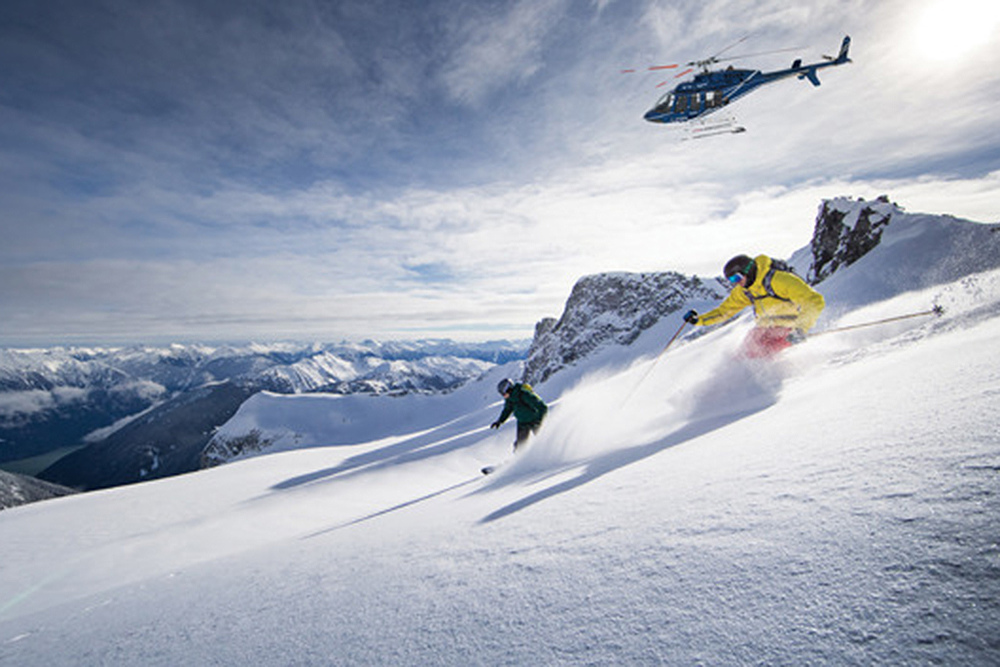 Imagine hundreds of heli ski runs.
