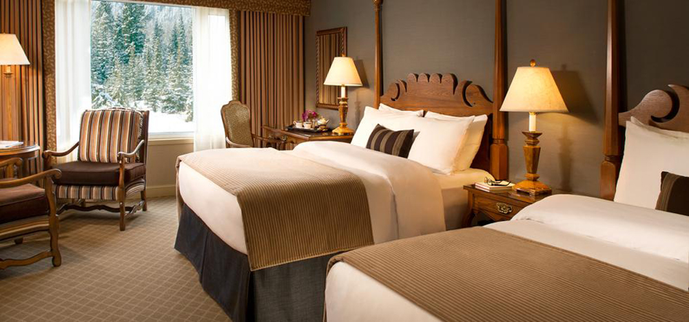 Cap off your day in this luxurious hotel room.